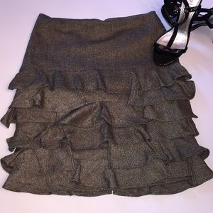 Talbots layered ruffle skirt sz2P